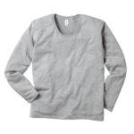 TRUSS SUL-116 スリムフィット Uネック ロングスリーブTシャツ