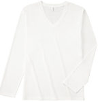 TRUSS SVL-115 スリムフィットロングスリーブVネックTシャツ